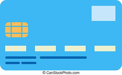 bank card - Flat image of credit card