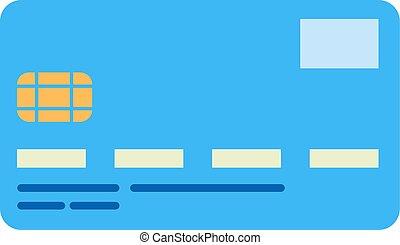bank card - Flat image of credit card
