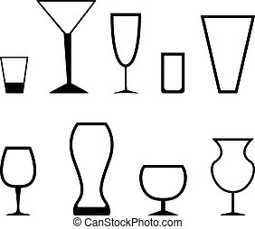 stemware - Set of black graphic stemware