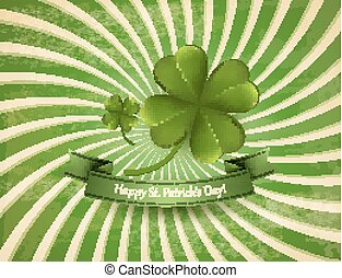 Happy St. Patrick's Day background with a clover. Vector.