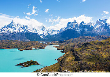 torres del paine national park - amazing view at cuernos del...