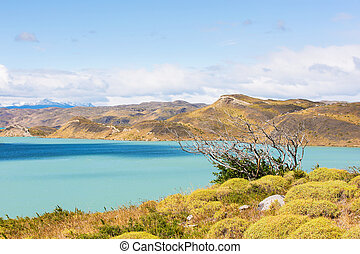 torres del paine national park - amazing view at pehoe lake...
