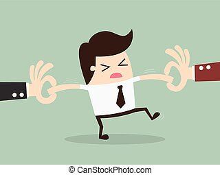 Snatch Employee - Two Businessman Snatching Employee....