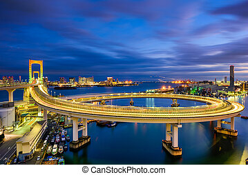 Rainbow Bridge Tokyo - Tokyo, Japan view of Rainbow Bridge...