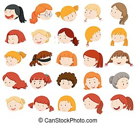 Girls and women faces