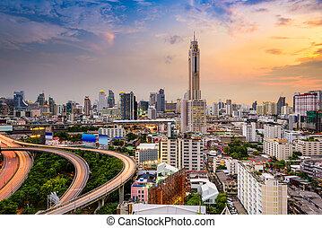 Bangkok Thailand - Bangkok, Thailand downtown cityscape