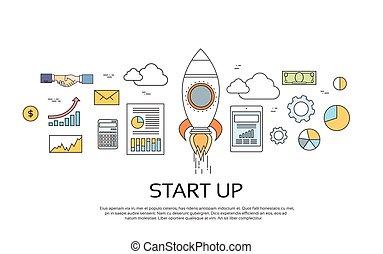 概念, ビジネス, の上, 始めなさい, 計画, 新しい