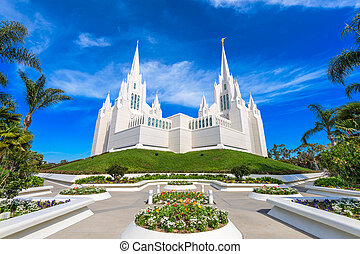 Mormon Temple - San Diego, California at San Diego...