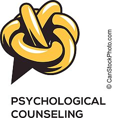 Counseling psychology, logotype, concept logo for design,...