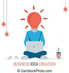 BUSINESS IDEA CREATION - Vector infographic business idea....