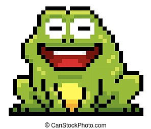 Frog - Cartoon Frog - Pixel design