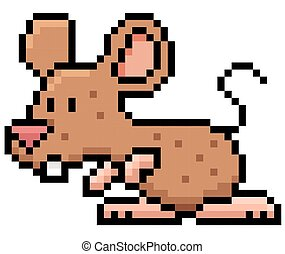 Rat - Cartoon rat - Pixel design