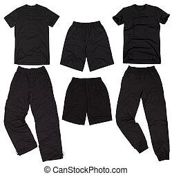 Set of male sportswear Isolated on white background - Set of...