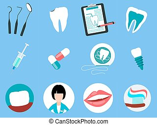 Dental Treatment Design Flat Concept - Dental treatment...