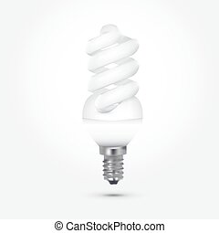 energy saving lamp bulb on white background isolated eps