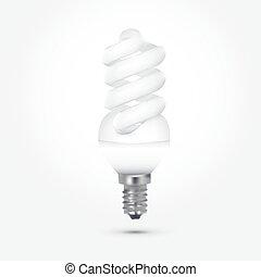 energy saving lamp bulb on white background isolated eps