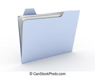 Folder - 3D rendered Illustration. Isolated on white.