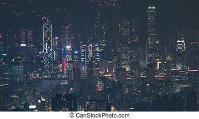 Hong Kong cityscape skyline from Fei ngo shan Kowloon Peak...