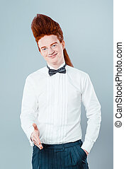 Funny concept for redheaded young man - Stylish redheaded...
