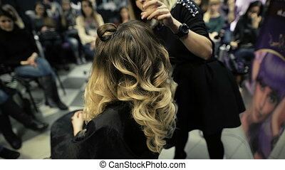 master class in the art of hairdressing, model, and a lot of...