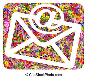 Envelope and e-mail  floral symbol