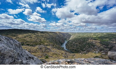 Time lapse of canyon Arribes del Duero - Arribes del Duero...