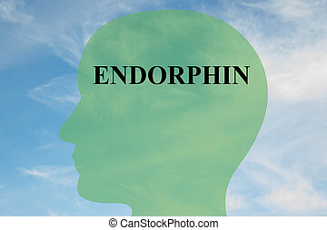 Endorphin concept - Render illustration of Endorphin title...