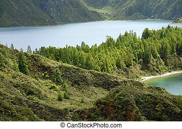 Lagoa do Fogo - the Lagoa do Fogo in Azores island of Sao...