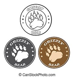 Bear Paw Print Circle Collection