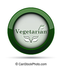 Vegetarian icon. Internet button on white background.