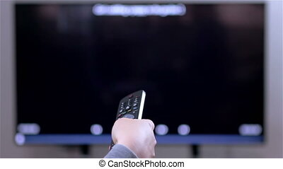 TV remote control changes channels