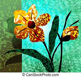 flower in colour background