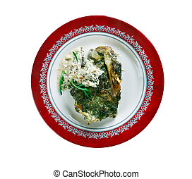 Fish Florentine - Baked Cod Fish Fillets Florentine-Style