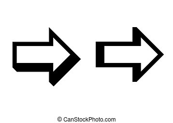 Directional arrows - Three dimensional directional arrows,...