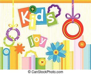 Cheerful children's card. Public Holiday