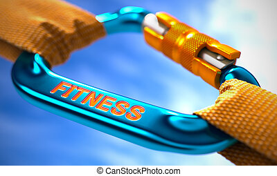 Fitness on Blue Carabine with a Orange Ropes Selective Focus...