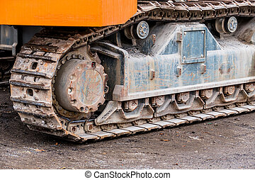 caterpillar of an excavator - the caterpillars of an...
