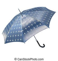 open photovoltaic umbrella stick concept