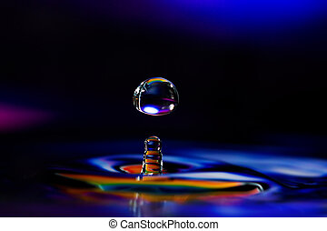 Colorful and Creative Water Drop Creations - Macro...