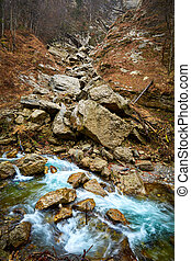 River in the mountains - Landscape with Cheii gorge and the...