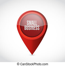 small business pointer sign concept illustration design...