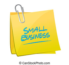 small business memo post sign concept illustration design...