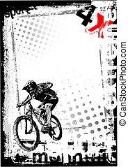 dirty bike 1 - sketching of the bike background