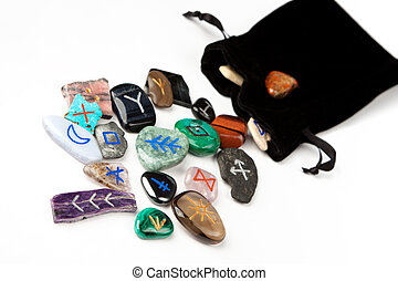Witches runes - Divination stones called Witches runes,...