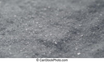 Coarse Salt Detailed Texture Background Macro closeup....