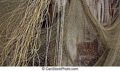 Fishing nets drying