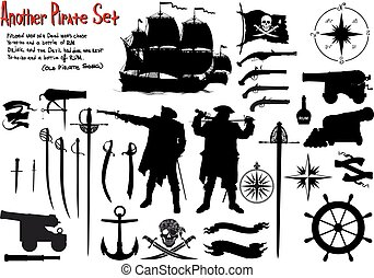 Another Big Pirate Set - Large set of silhouettes image for...