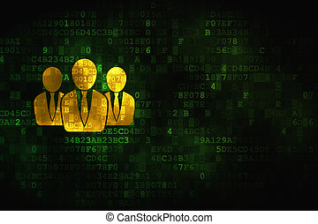 Law concept: Business People on digital background