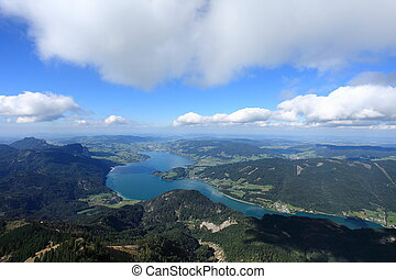 On the Mountain seeing the world - Took at St. Wolfgang see