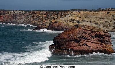 ocean waves - waves at the ocean west coast portugal